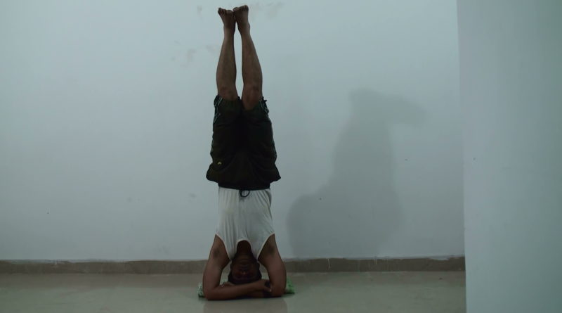 Bound Hands Head Stand