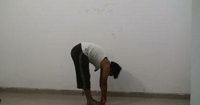 Padahastasana - Hand under foot pose